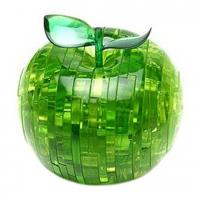 Пазл головоломка 3D Crystal Puzzle Яблоко зелёное