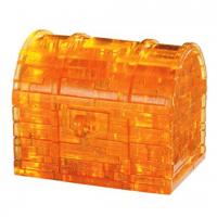 Пазл головоломка 3D Crystal Puzzle Сундук жёлтый