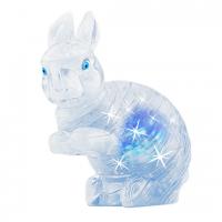 Пазл головоломка 3D Crystal Puzzle Заяц белый со светом