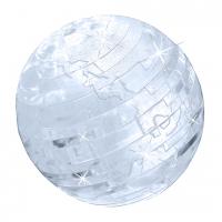 Пазл головоломка 3D Crystal Puzzle Земной Шар со светом