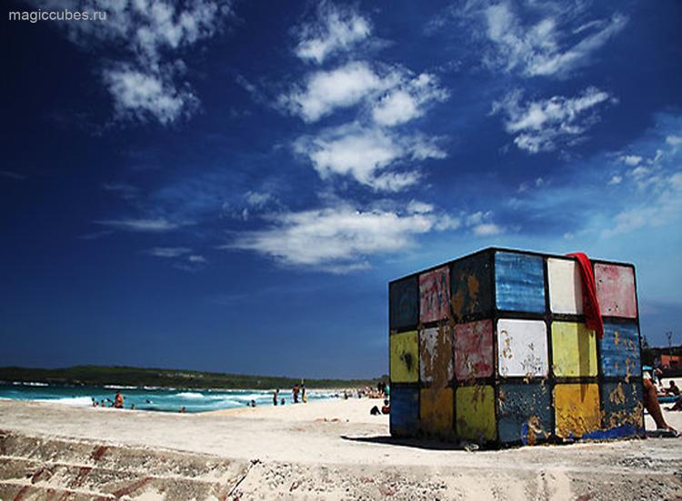 magiccubes.ru_пляжный домик в виде кубика Рубика