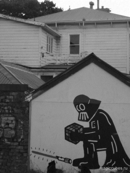 magiccubes.ru_граффити Дарт Вэйдер с кубиком Рубика