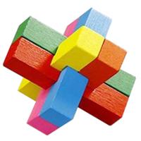 деревянная головоломка Маленький Дьявол цветная