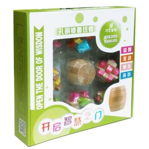 подарочный набор из 9 деревянных головоломок в коробке