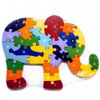 Деревянный пазл Слонёнок