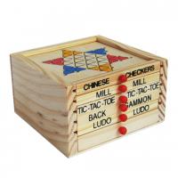 набор из 5 деревянных игр Пять в Одном