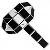 головоломка Змейка бело-чёрная 60 сегментов / 100 см