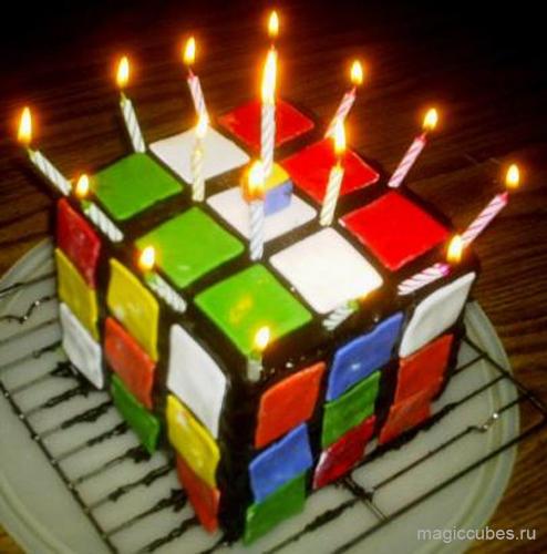 magiccubes_отличный торт в виде кубика Рубика