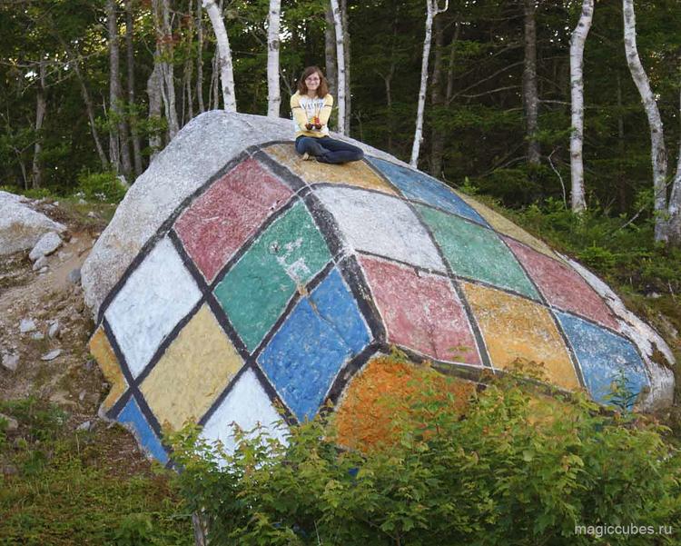 magiccubes.ru_камень в виде кубика Рубика