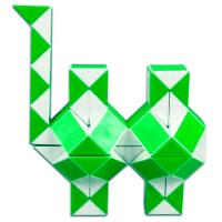 головоломка Змейка бело-зелёная 72 сегмента / 120 см