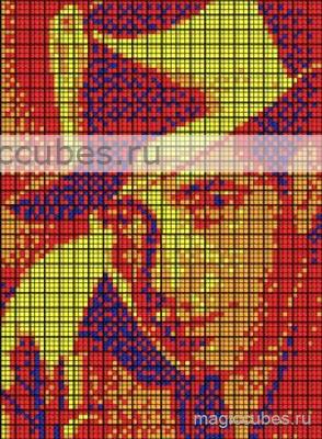 magiccubes.ru_картины из кубиков Рубика_портрет Хамфри Богарта
