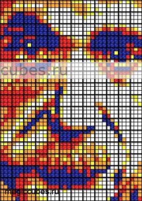 magiccubes.ru_картины из кубиков Рубика_портрет Альберта Эйнштейна