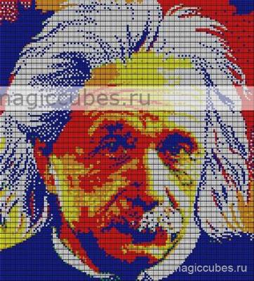 magiccubes.ru_картины из кубиков-рубиков_портрет Альберта Эйнштейна