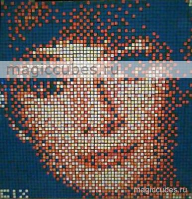 magiccubes.ru_картины из кубиков-рубиков_портрет Одри Хепбёрн