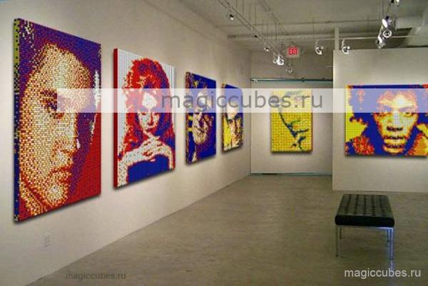 magiccubes.ru_картины из кубиков Рубика в интерьере