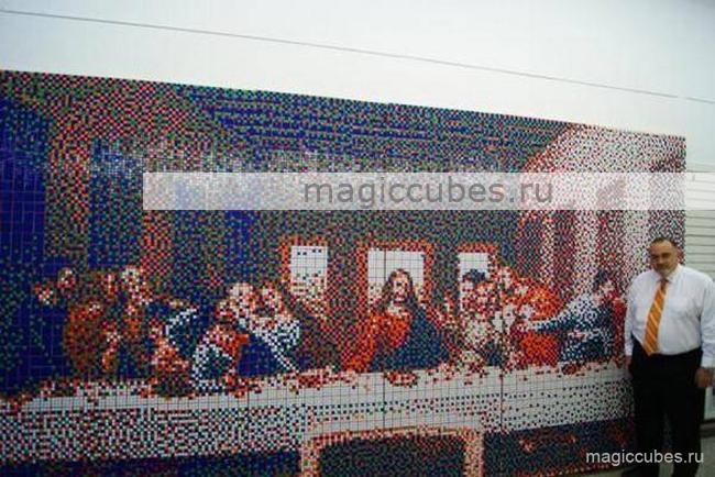 magiccubes.ru_картины из кубиков Рубика_Тайная вечеря Леонардо да Винчи