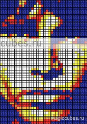 magiccubes.ru_картины из кубиков Рубика_портрет Джима Моррисона