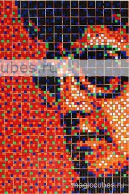 magiccubes.ru_картины из кубиков Рубика_портрет Элвиса Пресли