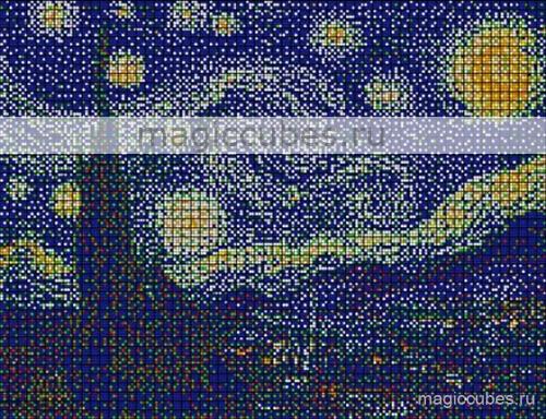 magiccubes.ru_картины из кубиков-рубиков_Звёздная ночь
