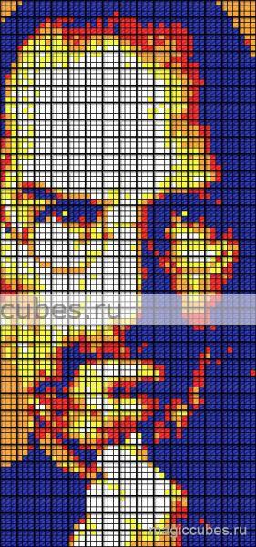 magiccubes.ru_картины из кубиков Рубика_Стив Джобс