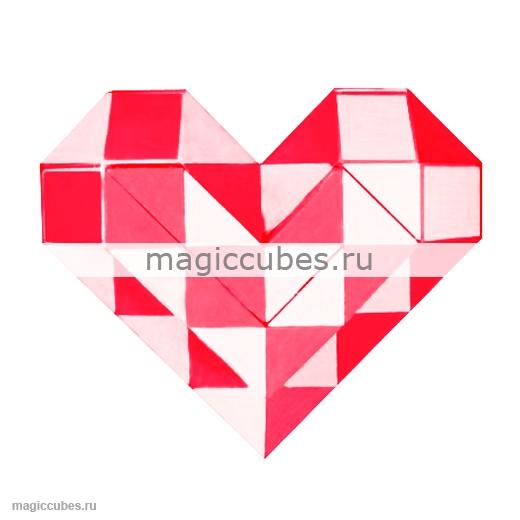 Схемы сердца из кубиков